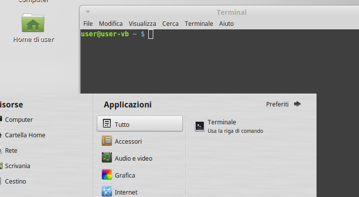 Terminal in Linux Mint